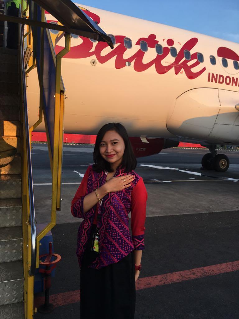 Dyah Ayu Alumni Ground Staff PAS yang sukses berkarier di maskapai Batik Air.