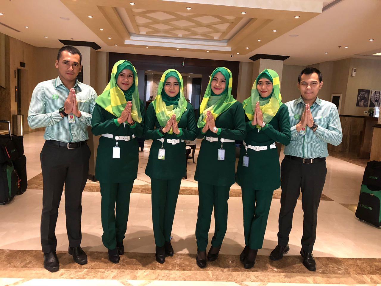 Tiara (No. 2 dari kanan) Alumni PAS yg sukses berkarier sebagai Pramugari Citilink,anak perusahaan maskapai Garuda.